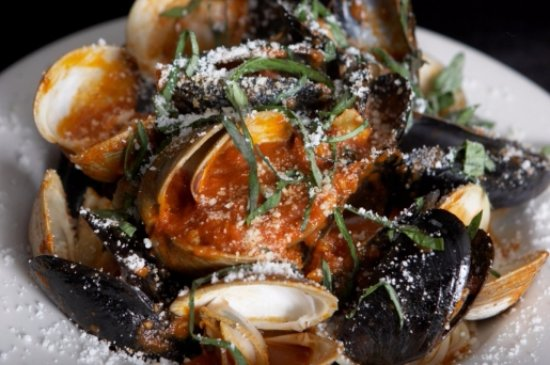 Perkasie, PA: Clams & Mussels Marinara, a dinner special on Wednesday nights.
