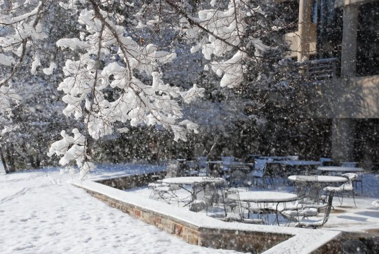 Plainsboro, NJ: Snow covered patio
