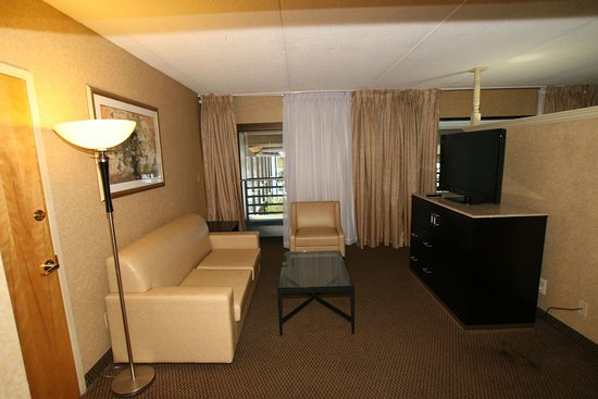 Clinton, NJ: Living Area Poolside Suite-Guest Room
