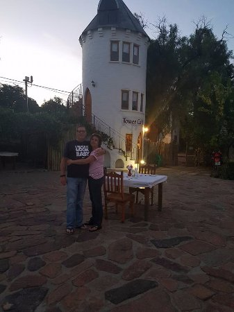 Nieu-Bethesda, Νότια Αφρική: Romantic dinner in the courtyard