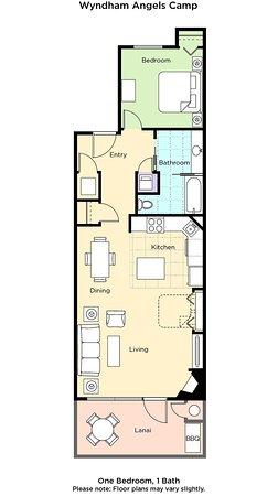 Angels Camp One-Bedroom Floor Plan