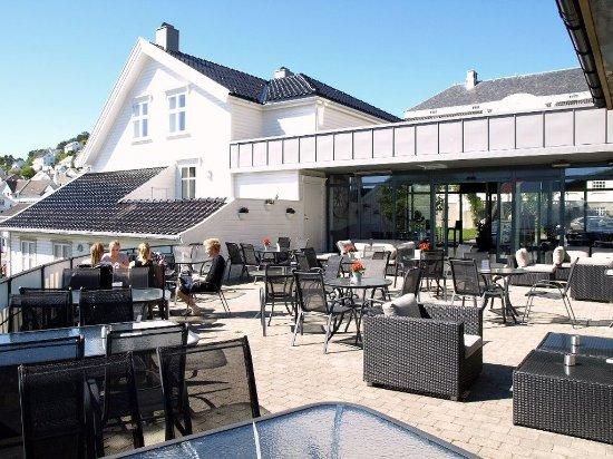 Farsund, Норвегия: Patio