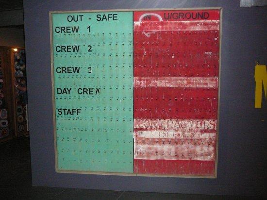 Launceston, Australia: Crew sign in/out board