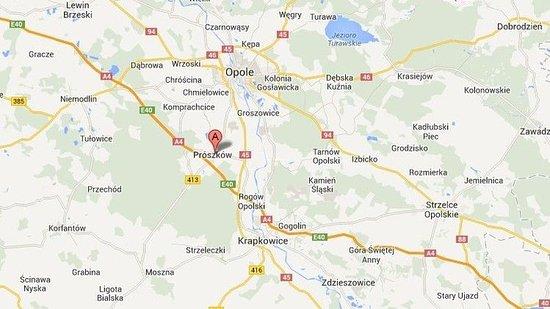 Proszkow, Poland: Map