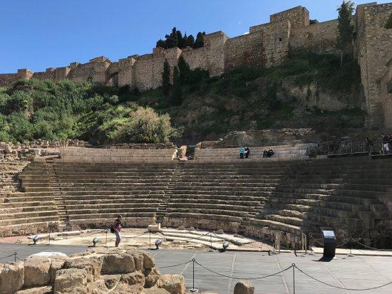 Teatro Romano de Málaga: The Roman Theatre with e Alcazabra in the background.