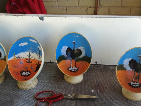 Oudtshoorn, South Africa: Half Eggshells Hand painted