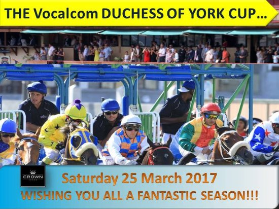 The Crown Lodge: Racing Season 2017 starts this Saturday 25 March till 03 December 2017...