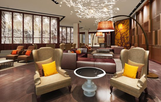 Changde, China: Lobby Lounge Rendering