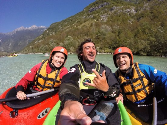 Bovec, Slovenia: Selfie time on kayak course