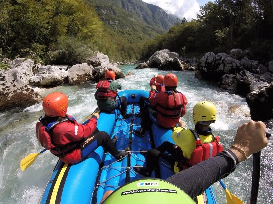 Bovec, Slovenia: Paddling down the Soča river