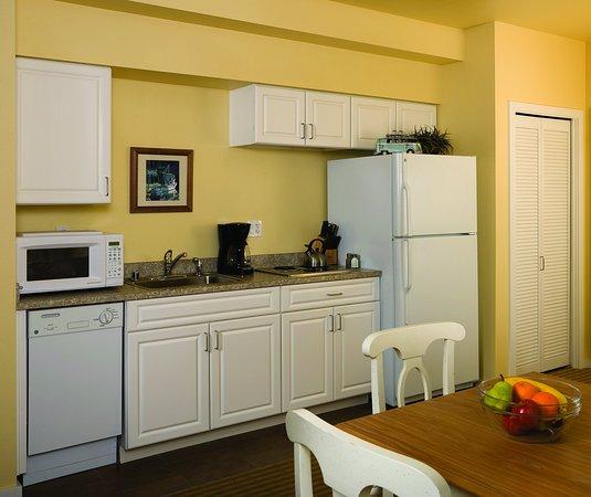 Long Beach, WA: Studio Suite Kitchen