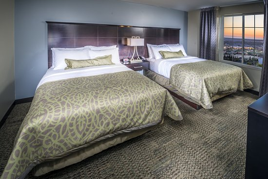 Folsom, CA: 2 Queen beds available in some suites.