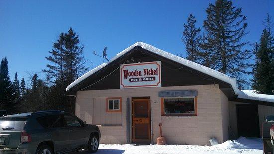 Iron River, MI: Wooden Nickel