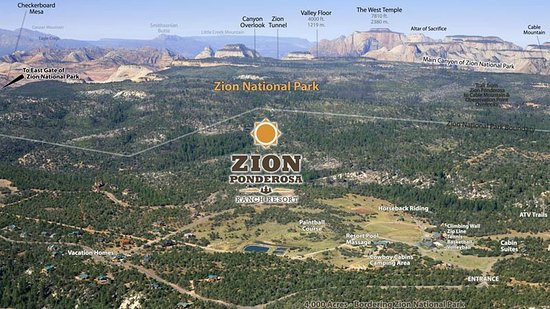 Zion Ponderosa Ranch Resort: Aerial View Zion Ponderosa