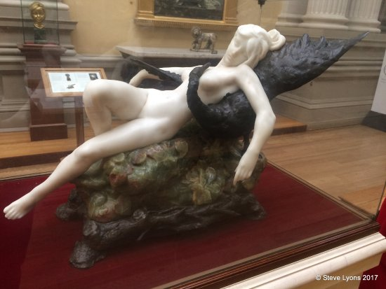 Lady Lever Art Gallery: Leda and the Swan, 1898.  Desiré Maurice Ferrary (1852-1904)