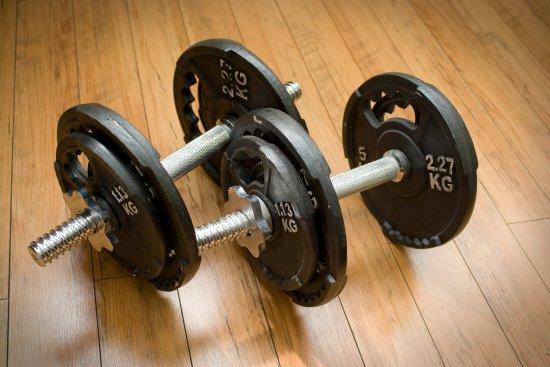 Scandic Victoria Lillehammer: Gym Dumbells