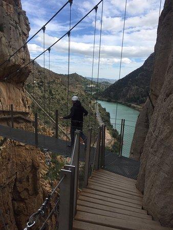 El Chorro, Spagna: Подвесной мост