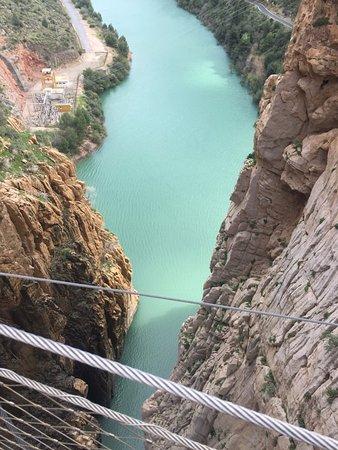 El Chorro, Spagna: И вид с него вниз
