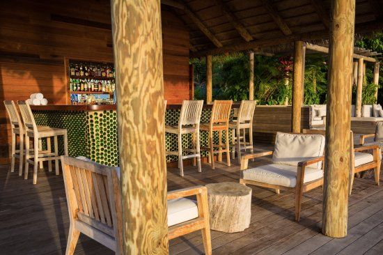 Nevis: Our beach bar by day. Serving cool drinks and food
