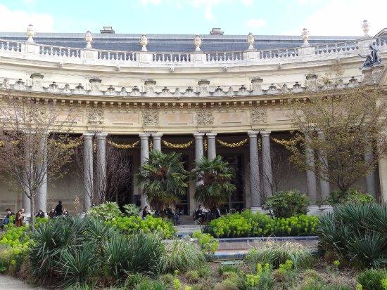 Le jardin le restaurant est au fond sous la guirlande for Au jardin du port le palais