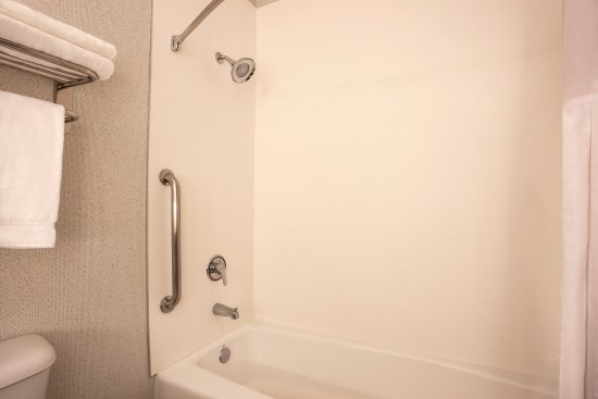 Davis, CA: ADA/Handicapped accessible Guest Bathroom with mobility tub