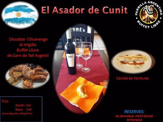 Cunit, Hiszpania: Información de Buffet Libre