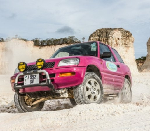Stop In A Quarry To Have Some Fun With Our Pink Jeeps