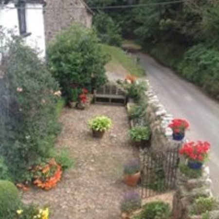 Moretonhampstead, UK: View of front garden from the Cornflower room