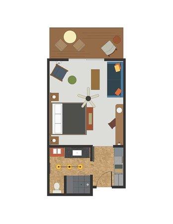 Groveland, Californië: Lodge King Floor Plan