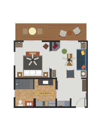 Groveland, Καλιφόρνια: Lodge Suite Floor Plan