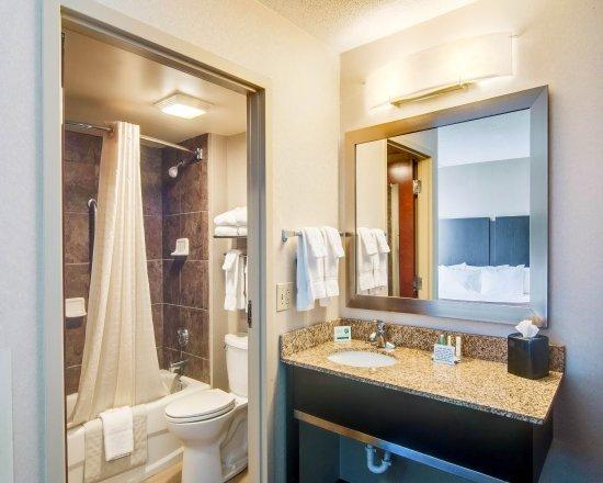 Blacksburg, Вирджиния: Our Suite Bathroom With Granite Counters and Tub