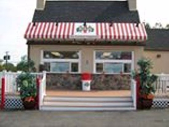 Claymont, DE: We sell over 70 flavors of water ice made on site.  We are also known for our custard.