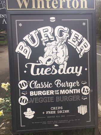 Chiddingfold, UK: Burger Tuesday