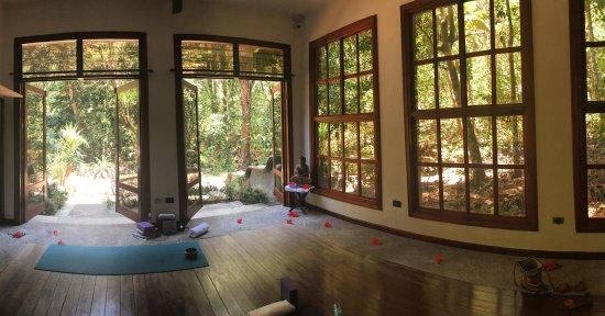 Quepos, Costa Rica: yoga studio with the most beautiful view.