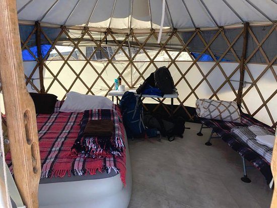 Magdalena Bay Whales Inside our yurt (canvas tent) & our toilet tent - Picture of Magdalena Bay Whales Puerto San ...