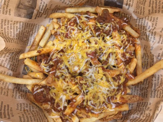 Matthews, NC: This is a customer's photo of our Chili Cheese Fries! Yum!