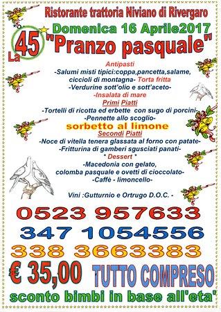Rivergaro, Italie : il PRANZO Pasquale abbondante e ben servito con pesce e carne
