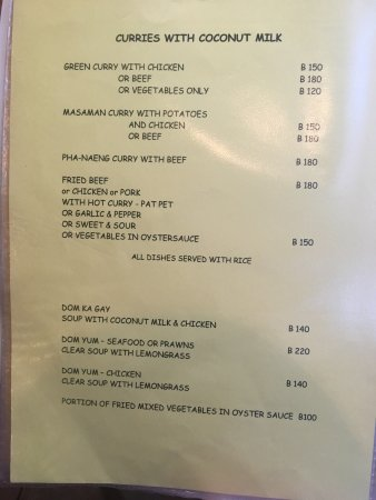 Fatty's: Menu for reference
