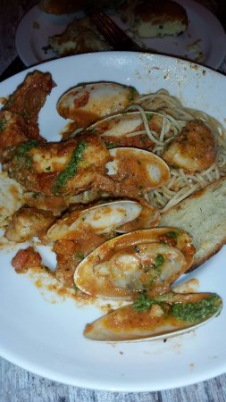 Beach House Restaurant Seafood Capellini Loaded With Fresh Served Pasta
