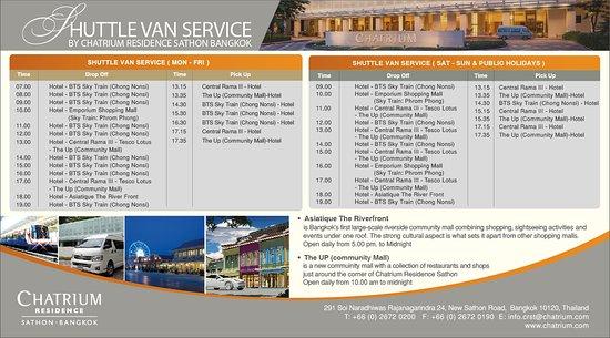 Chatrium Residence Sathon Bangkok: Flyer Shuttle Van Dpi