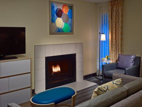 Westlake, Огайо: Studio Suite With Fireplace Living Area