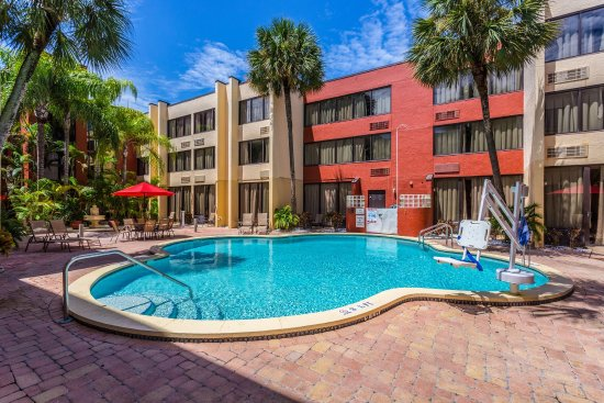 pool picture of red roof inn clearwater airport. Black Bedroom Furniture Sets. Home Design Ideas