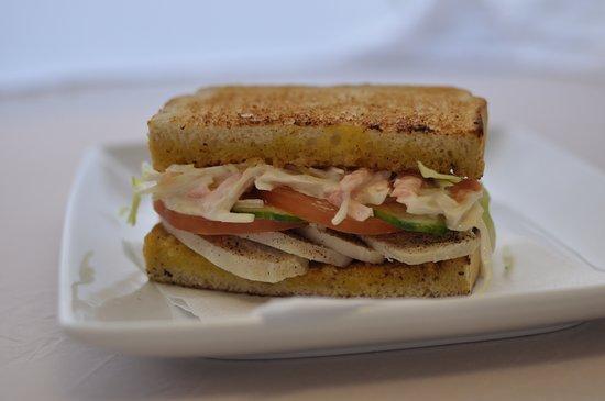 Bootle, UK: Chicken Salad coleslaw toastie