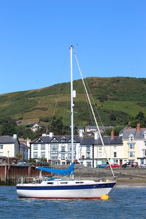 Aberdyfi (Aberdovey), UK: View from the Sea