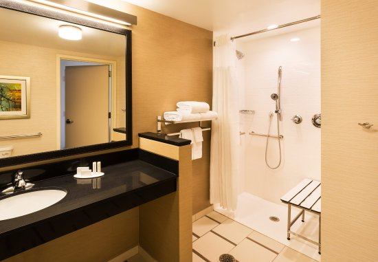 Johnson City, TN: Accessible Guest Bathroom - Roll-in Shower
