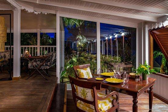 Colombier, St. Barthelemy: Terrace Restaurant