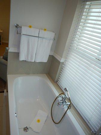 โรงแรมเดอะลาสเวิล์ดฟรานโชค: Little yellow flowers all over the bathroom-great touch!