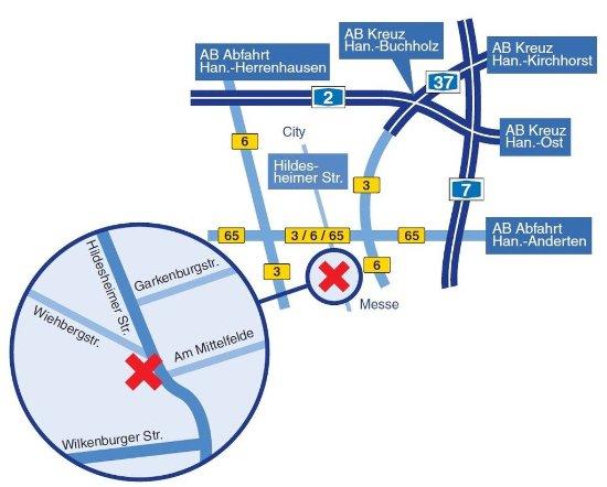 Designhotel Wienecke XI. : Location map