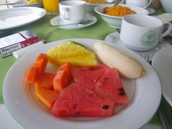 Hotel Elephant Park: Früchteteller zum Frühstück