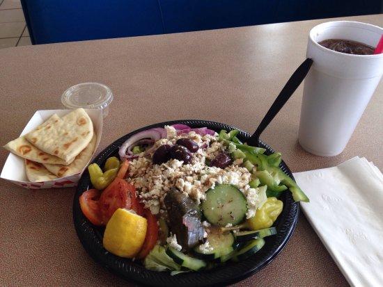Primm, NV: The Mad Greek Cafe - Large Greek salad